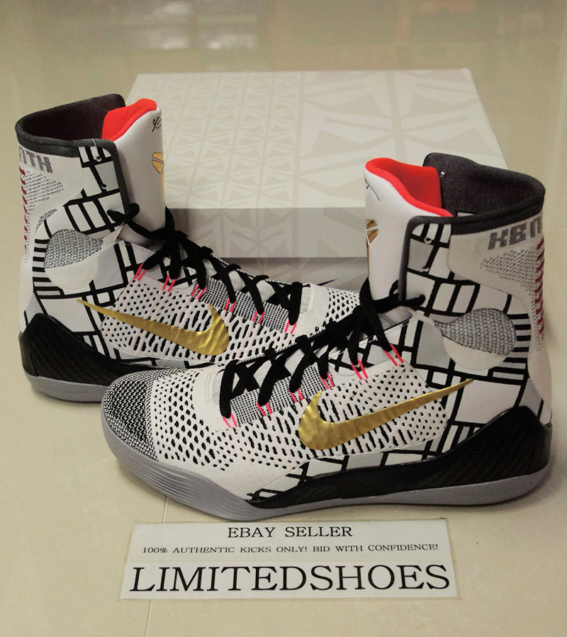 best website 424c5 66791 Details about NIKE KOBE IX 9 ELITE GOLD PACK US 9 SIZE detail influence htm  maestro lakers x