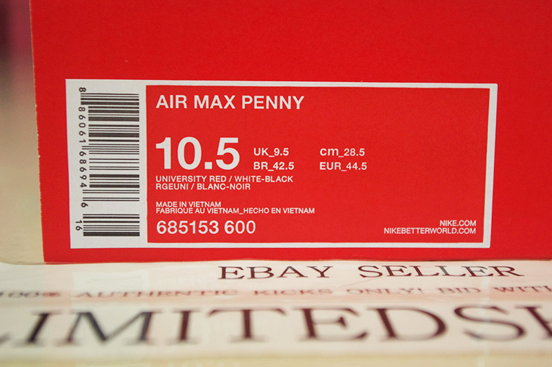 Nike Penny Air Max 1 Rouge 10,5