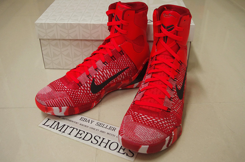 pretty nice b18ba c11d1 ... NIKE KOBE IX 9 ELITE 630847-600 CHRISTMAS hero x elite low bhm detail  id ...