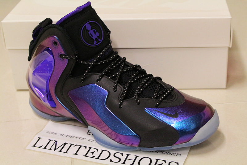 9301f316f4d Nike Lil Penny Posite Berenjena 630999-500 Galaxy Foamposite Oro Azul Real  og