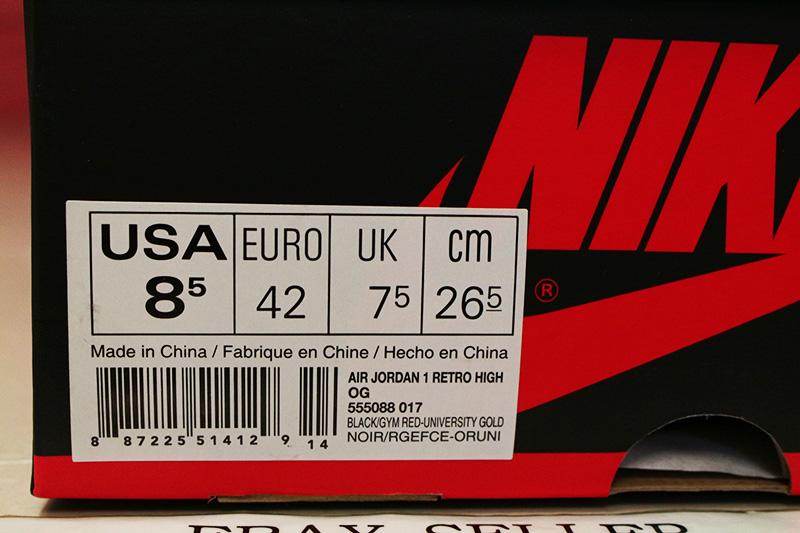 air jordan 1 bred box