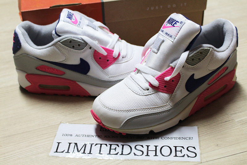 Detalles de Para mujer Nike Air Max 90 Classic Hoa Blanco Rosa Gris 313098 141 Infrarrojo PARIS corcho ver título original