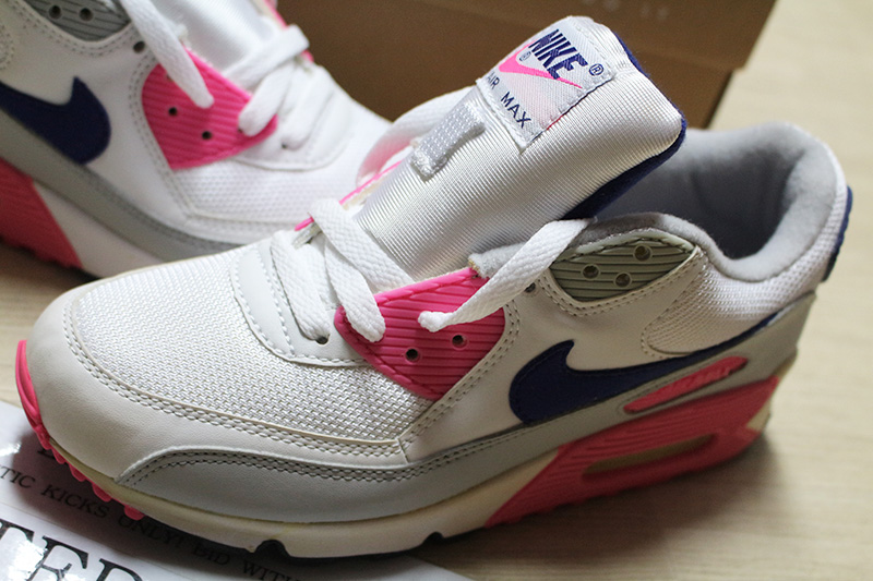 Details about NIKE WMNS AIR MAX 90 CLASSIC HOA WHITE PINK GREY 313098 141 INFRARED paris cork