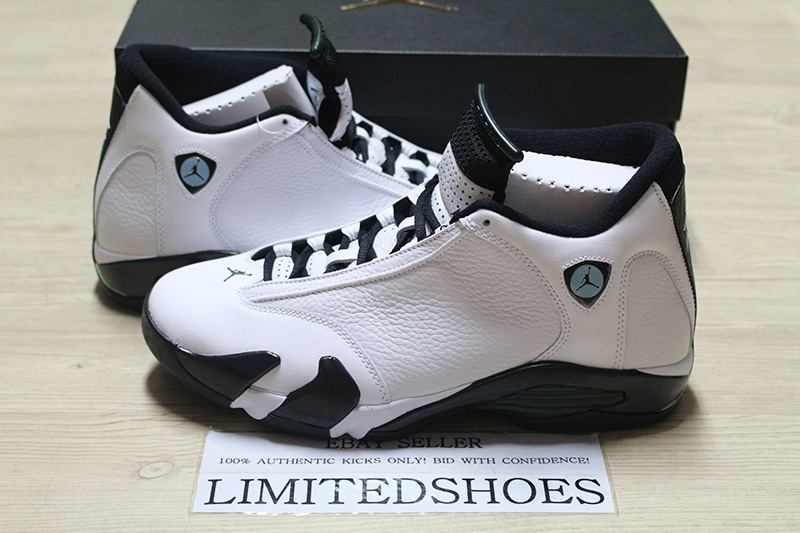 best website dc692 c3362 Details about NIKE AIR JORDAN XIV 14 RETRO OXIDIZED GREEN 487471-106 WHITE  black toe red