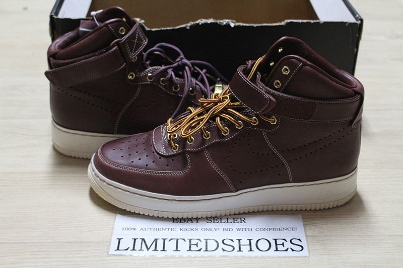 Details about NIKE AIR FORCE 1 SUPREME HI HIGH DEEP BURGUNDY WORK BOOT  400895-600 US 11 white