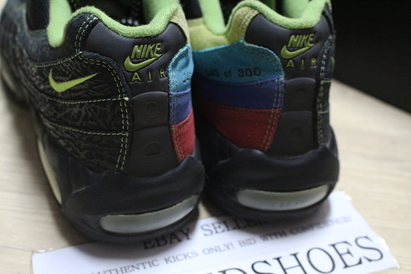 Details about 2006 NIKE AIR MAX 95 ID SOLE COLLECTOR COWBOY SPECIAL BLACK NEON RAINBOW US 12