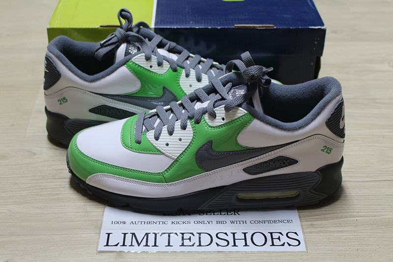 Details about NIKE AIR MAX 90 ID WHITE GREEN US 11 dunkman solar red black duck gold lebron 95