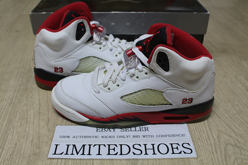 best lace up in buying new NIKE AIR JORDAN 5 V RETRO GS FIRE RED 134092-162 US 6Y oreo tokyo ...