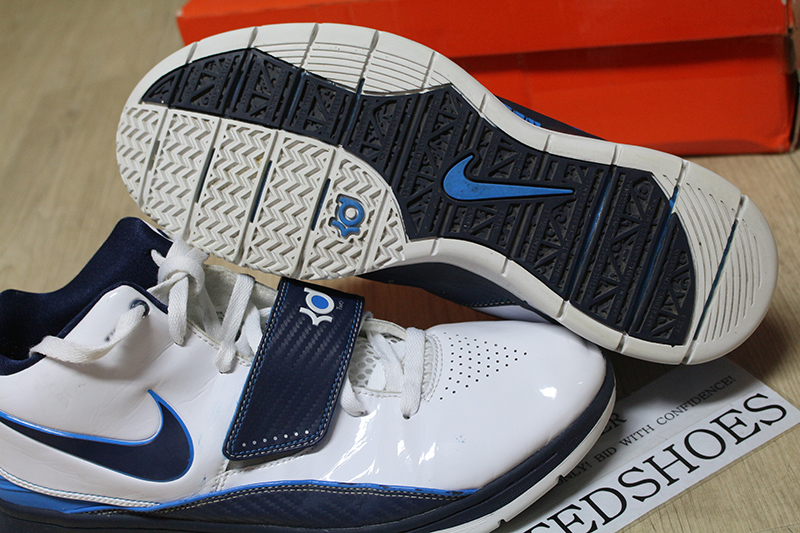 buy online c40c4 48134 NIKE KD 2 II WHITE MIDNIGHT NAVY PHOTO BLUE 386423-141 US 11 supreme  creamsicle   eBay
