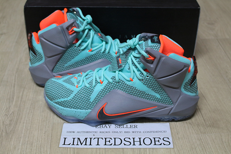 size 40 ec252 7409a Details about NIKE LEBRON XII 12 NSRL HYPER TURQUOISE 684953-301 ext wheat  what the elite id