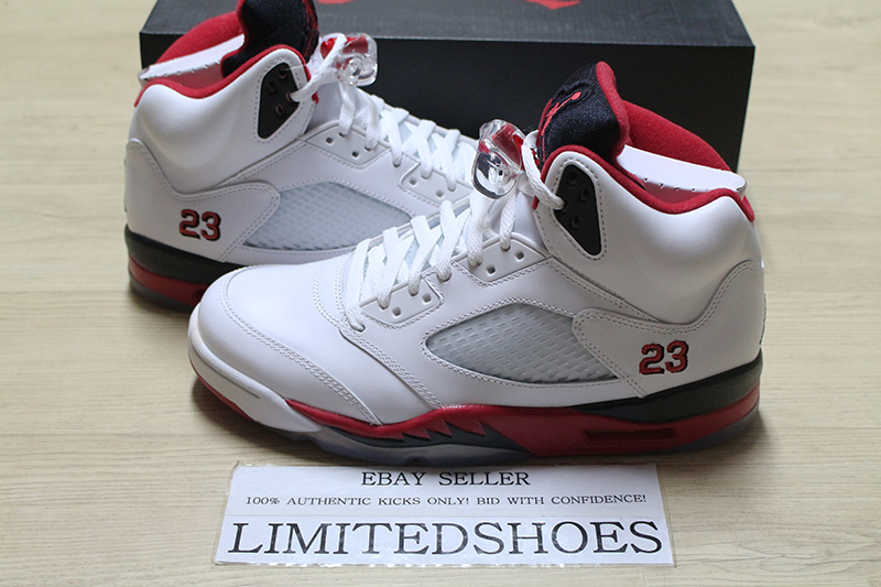 clearance prices great fit elegant shoes 2013 NIKE AIR JORDAN 5 V RETRO FIRE RED 136027-120 supreme toro ...