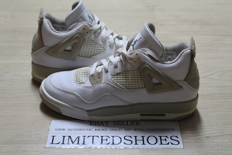 new product d8aa4 54af5 Details about NIKE AIR JORDAN 4 IV RETRO GS WHITE BOARDER SAND 308498-142  US 6Y oreo bred og