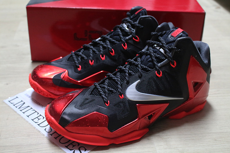 ... NIKE LEBRON XI 11 AWAY MIAMI HEAT RED BLACK 616175-001 all star what the 5d154ff77