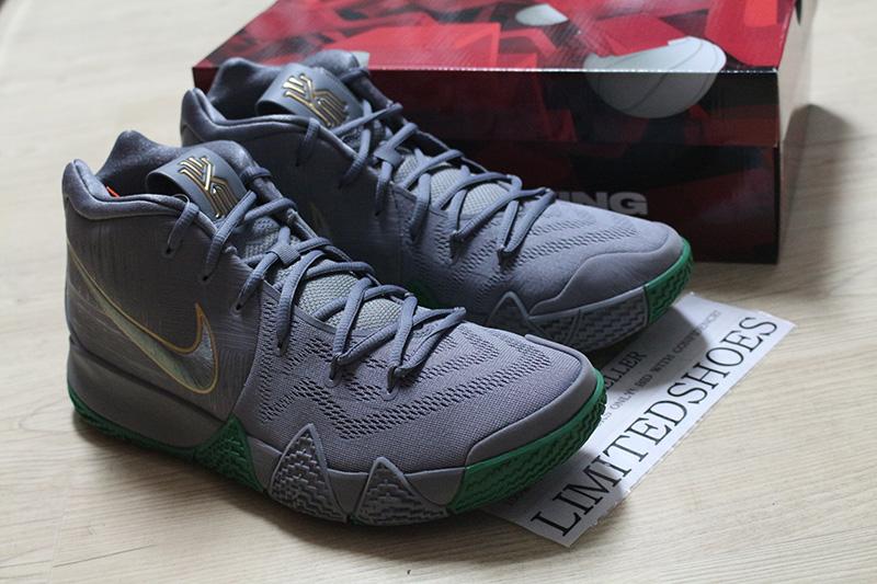 b9e697aadaa54 Nike Kyrie 4 Parquet Legends Flat Silver Metallic Gold Flat Silver Men s  Basketball Shoes