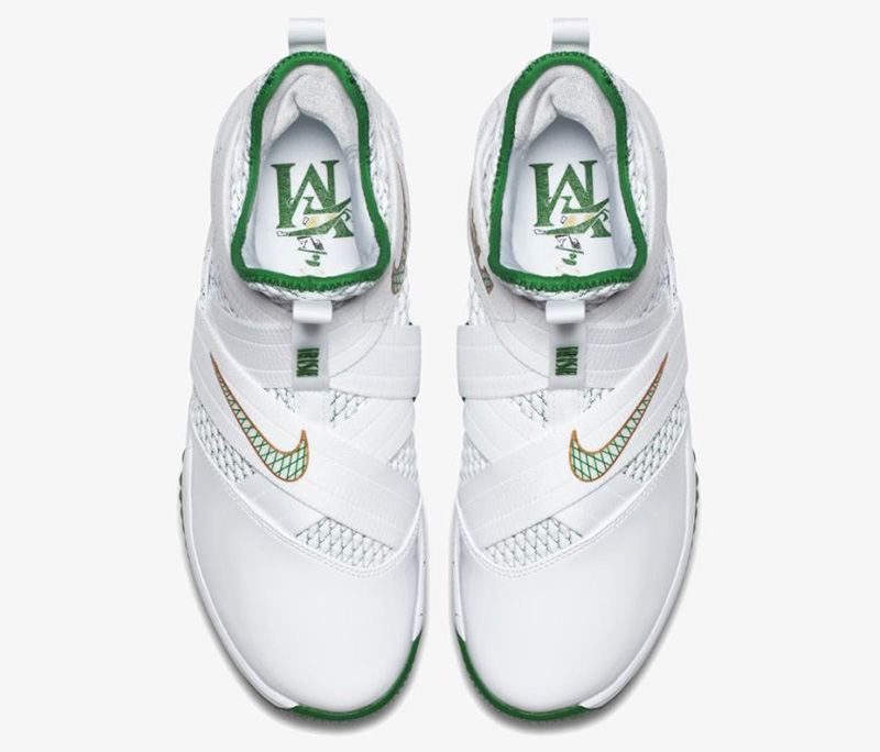 83f315e2da71 ... nike lebron soldier xii 12 svsm home white green vincent mary ao2609 100  ep mens ebay