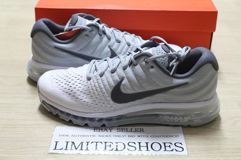 d2d5b8f1c0 ... Running Shoes White wolf Grey dark Grey; half off 2178a 5c45b Details  about NIKE AIR MAX 2017 WHITE DARK WOLF GREY 849559-
