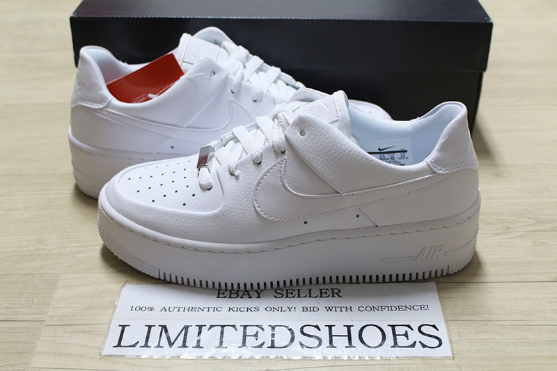 Details about W NIKE AIR FORCE 1 SAGE LOW TRIPLE WHITE AR5339 100 Womens Casual Sneakers