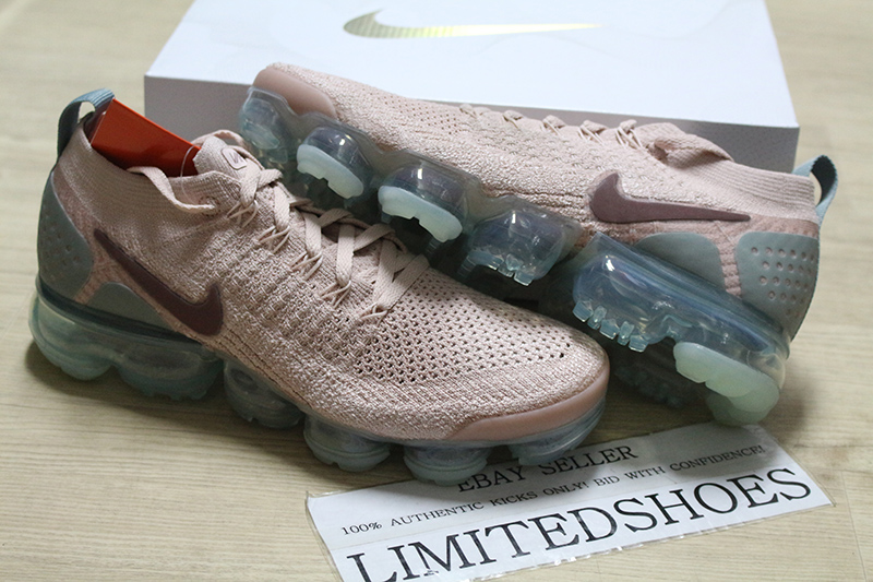 2e950d8aa7c W NIKE WMNS AIR VAPORMAX FLYKNIT 2 PARTICLE BEIGE GREEN IGLOO 942843 ...