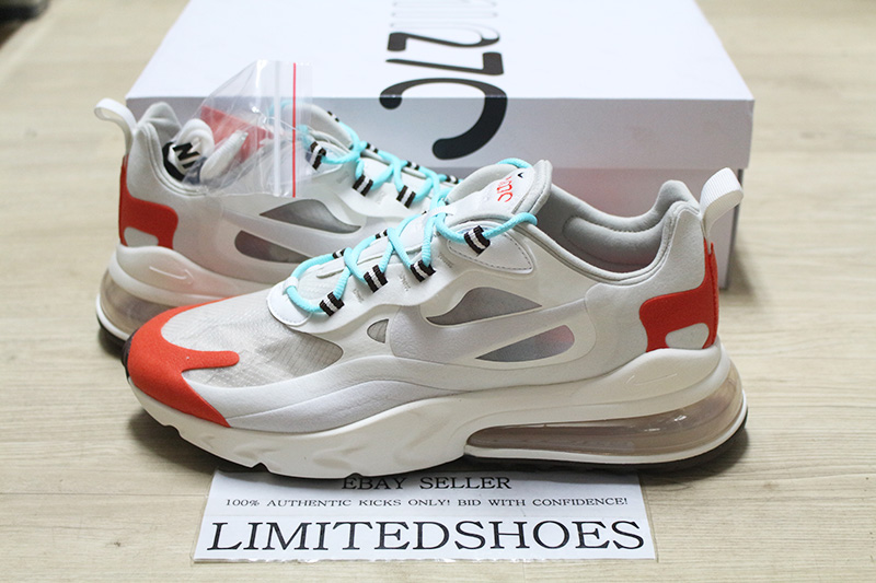 barato Details about NIKE AIR MAX 270 REACT LIGHT BEIGE RED
