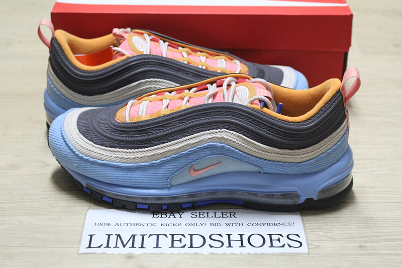 Details about NIKE AIR MAX 97 CORDUROY PACK LIGHT BLUE PINK DESERT SAND CQ7512 462 MENS