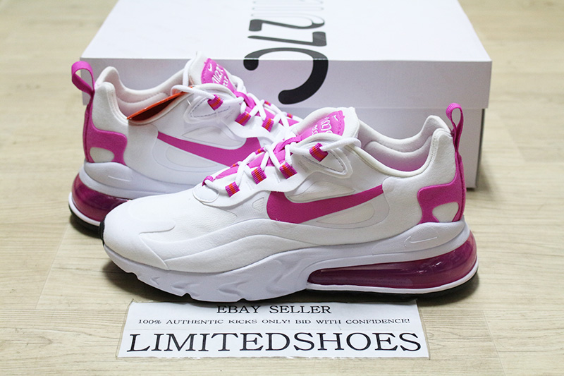Details about WMNS NIKE AIR MAX 270 REACT WHITE FIRE PINK BLACK CJ0619-100  Womens Sneakers