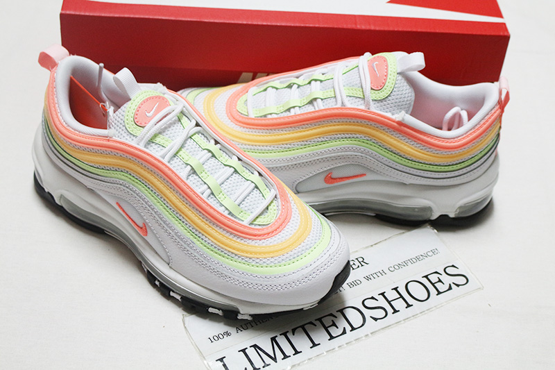 Details about WOMENS NIKE AIR MAX 97 NEON HIGHLIGHTER WHITE ATOMIC PINK  VOLT MELON CZ6087-100